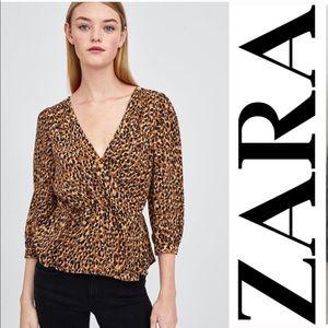 Zara TRF leopard blouse